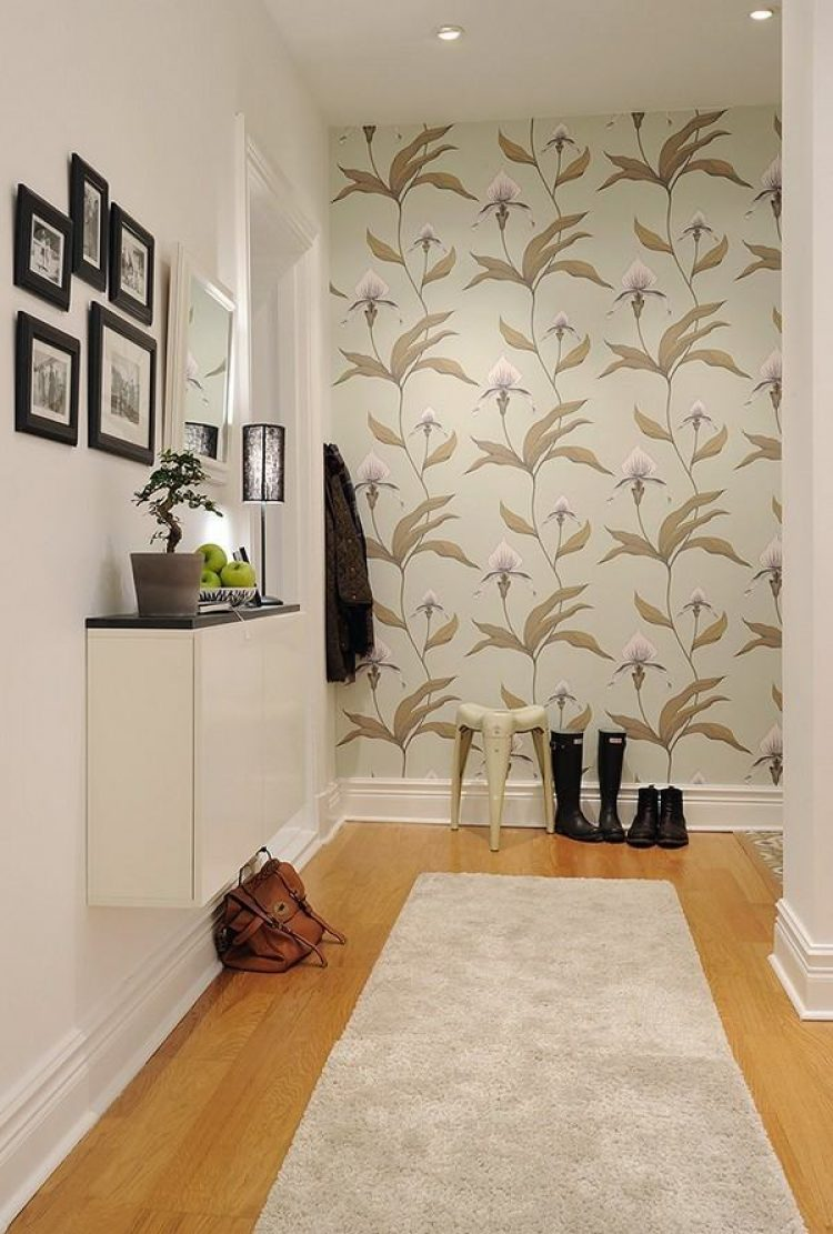 Hall Decoration Ideas Home Part - 16: Entrance Hall Decoration Ideas (8) Floral Wallpaper. Floral Wallpapers