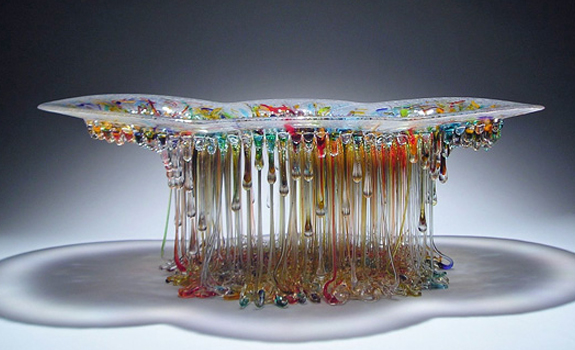 Jelly Fish Glass Sculpture
