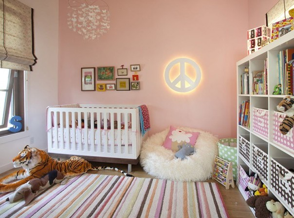 Nursery room for a baby girl adorable home - Baby nursery ideas for small spaces style ...
