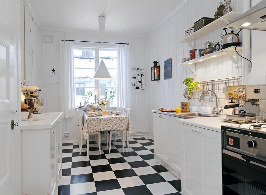 White kitchen design from Sweden  (1)