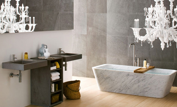 Modern bath design by Neutra