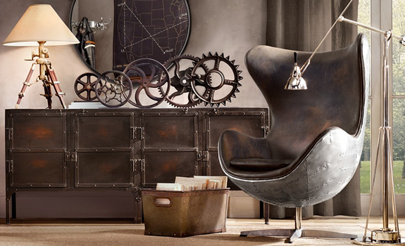 Industrial Influence in the Home Decor