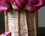DIY newspaper vase (9)