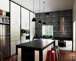 Stylish black and white kitchen (1)