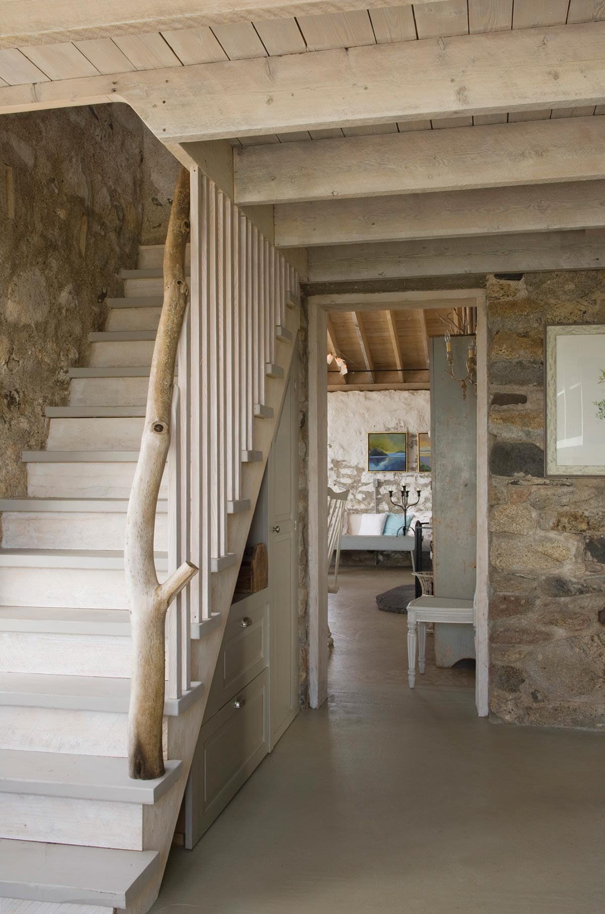 Staircase in a cottage