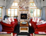Red living room design ideas (14)