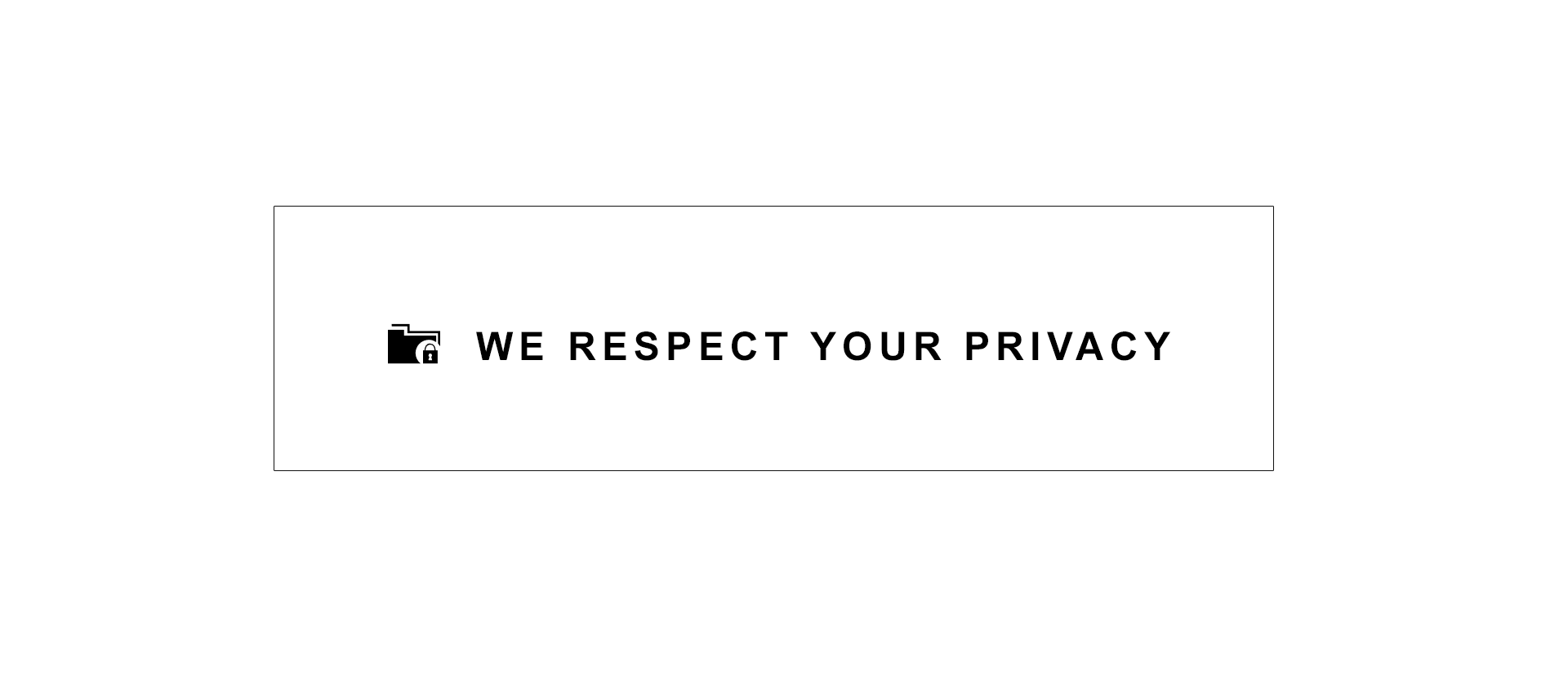 Privacy policy sign