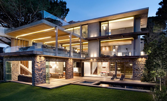 Three story luxury family house in south africa adorable for Modern house plans 3 story