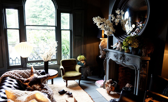Black shade living room