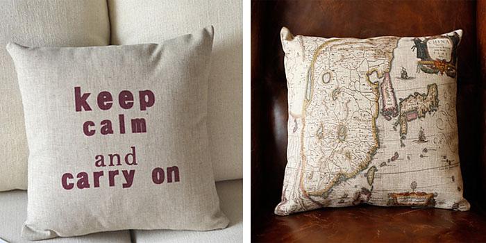 Cotton and linen decorative pillows (8)
