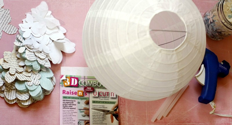 3D paper lamp - view from above