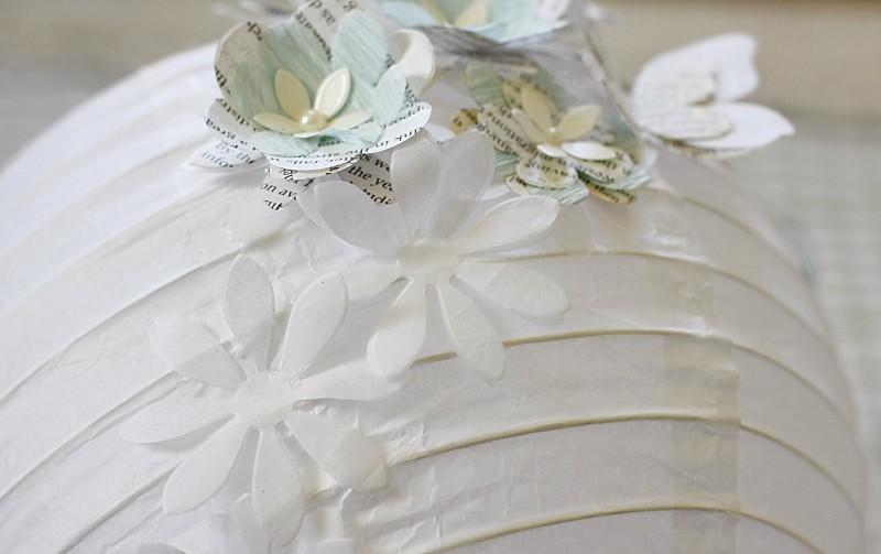3D paper lamp - close up