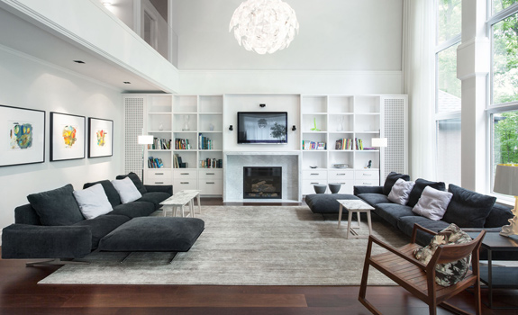 Elegant Grey and White Interior