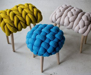 Funky knitted chairs