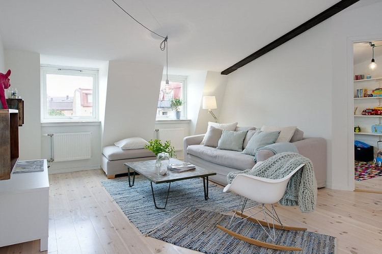 Elegant grey and white interior adorable home - Stylish penthouse interior design introducing the charming minimalism ...