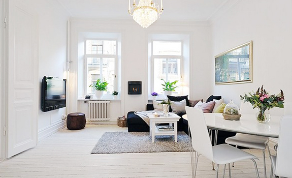 Scandinavian style in the living room adorable home for Pictures for living rooms what is in style