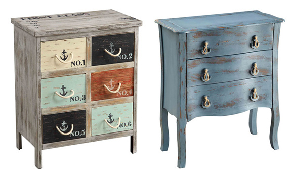 Vintage and country-chic chests and side tables