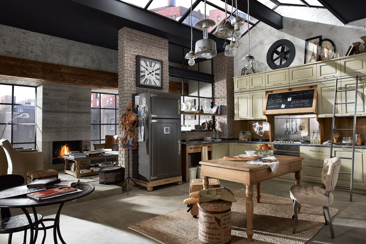 Vintage and industrial style kitchens by marchi group - Vintage industrial interior design ...