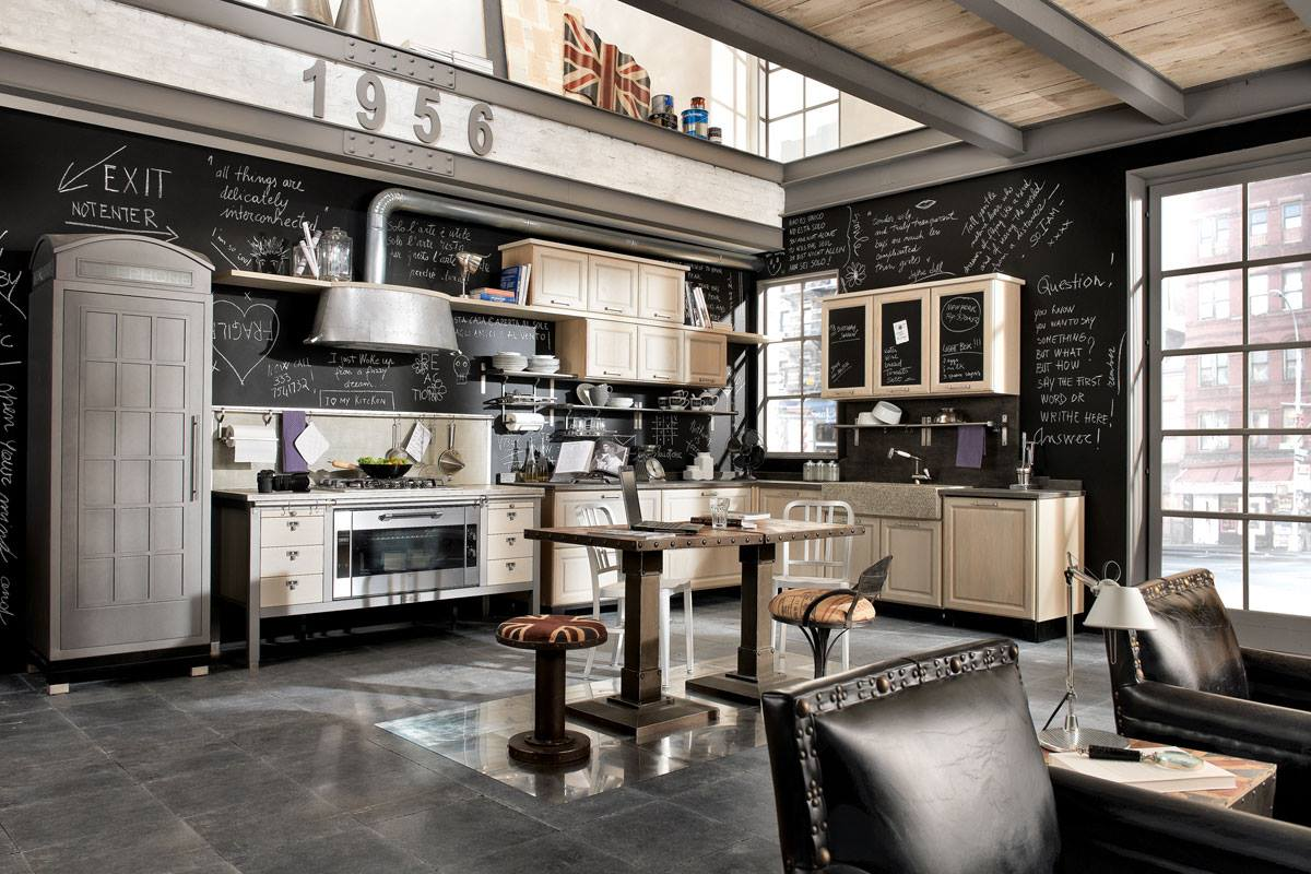 vintage and industrial style kitchens 14. Black Bedroom Furniture Sets. Home Design Ideas