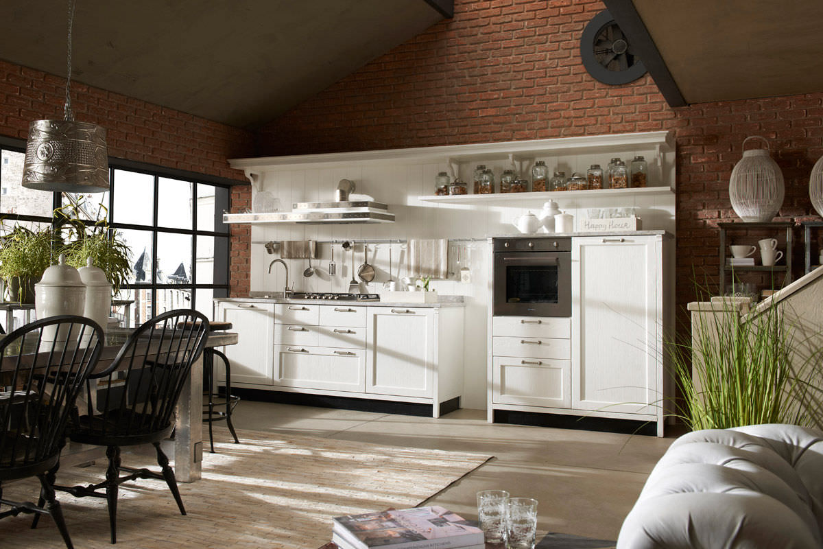Vintage and industrial style kitchens by marchi group for Classic style kitchen