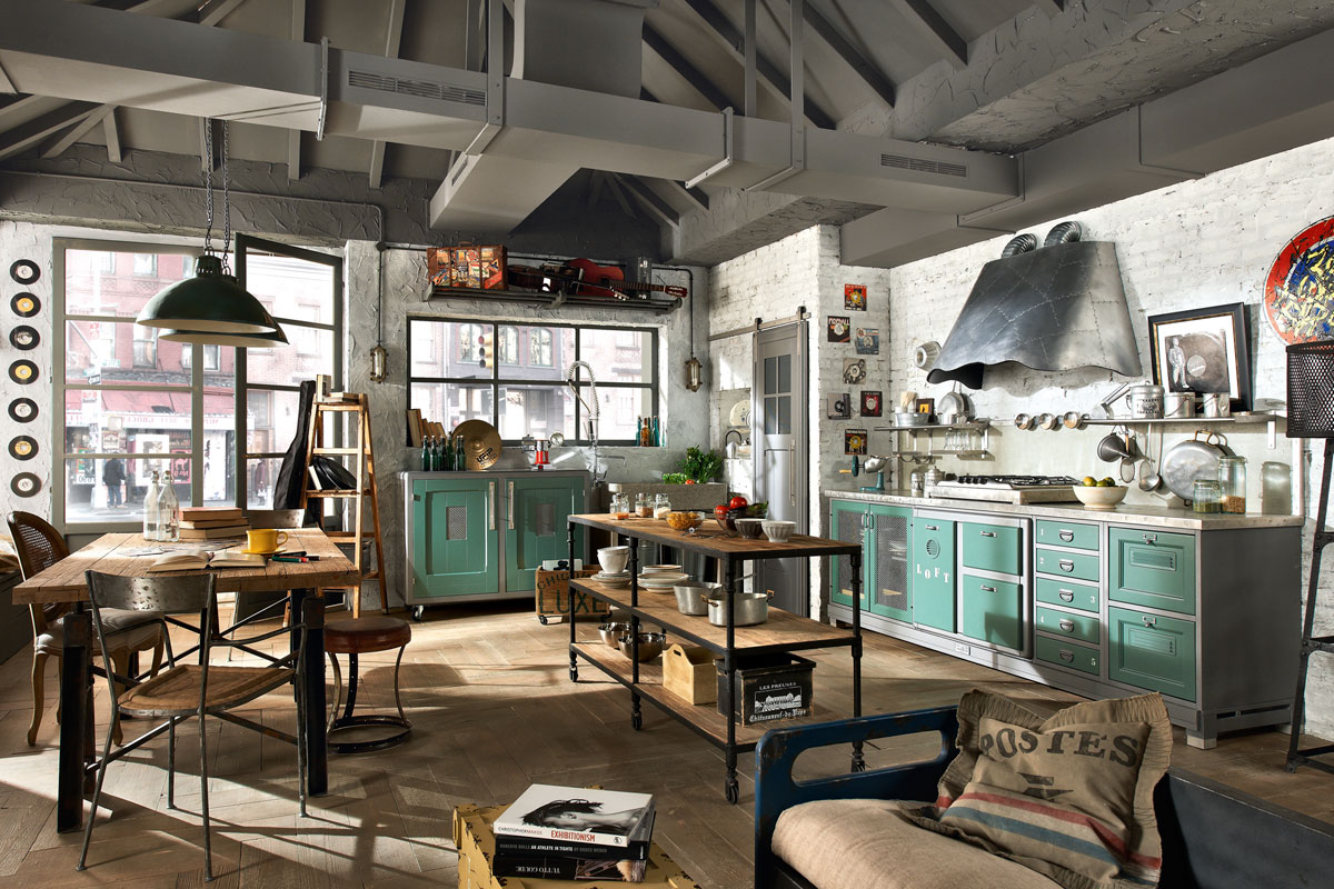Vintage and industrial style kitchens by marchi cucine - Vintage industrial interior design ...