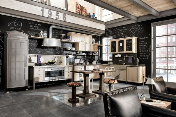 Vintage and industrial style kitchens by marchi group - Decoration industrielle vintage ...