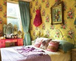 Vividly colored bedrooms