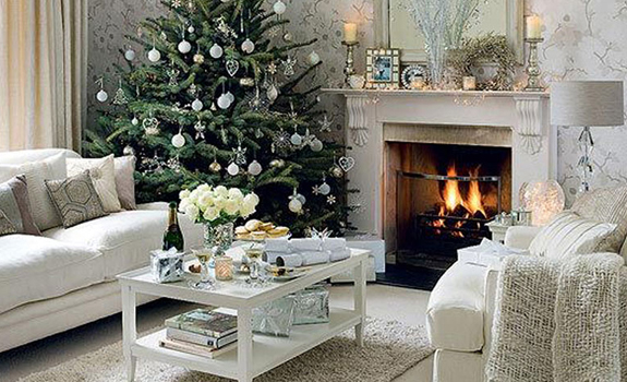 white christmas home decor adorable home - Christmas Home Decor