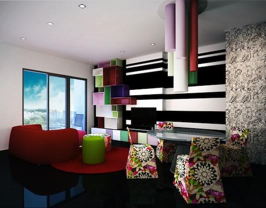 Futuristic interior by Missoni Home