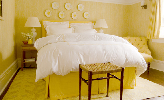 Interiors in yellow