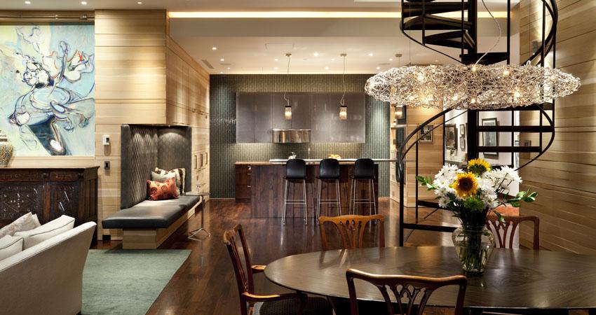 Contemporary apartment in Minneapolis