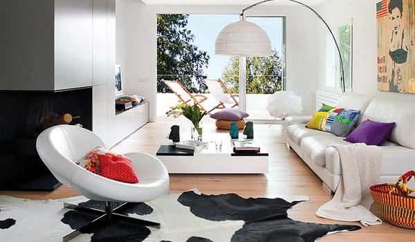 Contemporary fresh interior of a Spanish villa