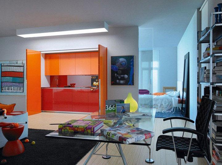 Hidden kitchen – original and functional