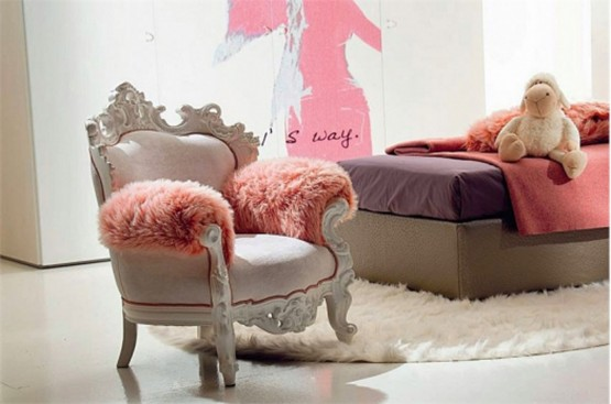 Luxury and chic girl's room design