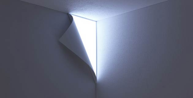 Original peel wall lamp