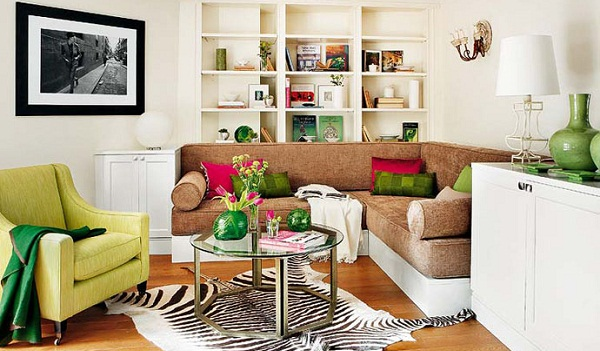 Stylish and colorful interior on 538 sq f