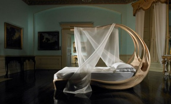 The Enignum Canopy Bed by Joseph Walsh