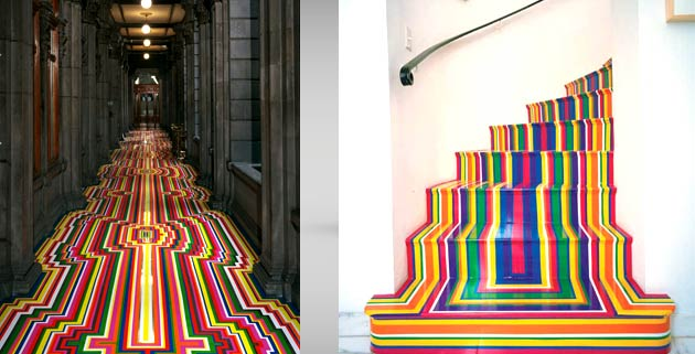 The most colorful floor design