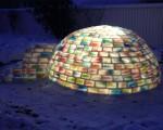 DIY: Colorful igloo in the backyard