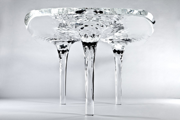 Stylish and elegant water-like table