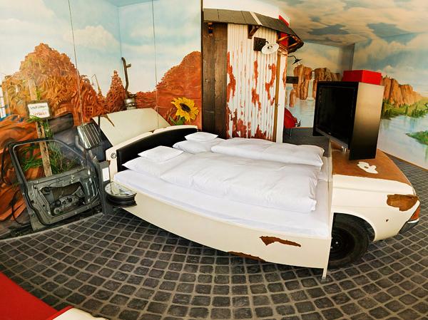 The unique V8 Hotel