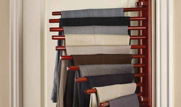 The trouser rack – a handy closet organizer