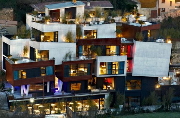 Unique architecture of the Spanish Viura Hotel