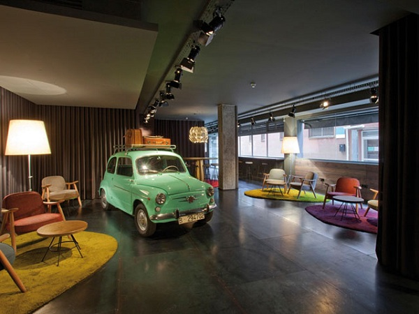 Eclectic style hotel in Barcelona