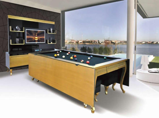Gilded dining pool table