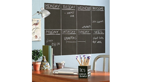 Peel and stick chalkboard