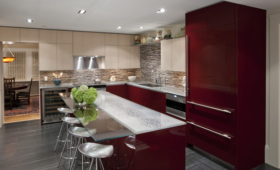 Modern Kitchen and a Family Room in One