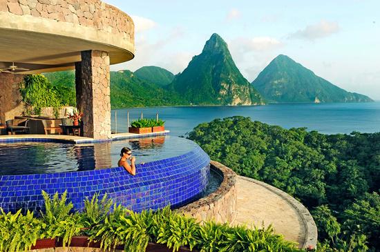 The marvelous Jade Mountain St.Lucia Resort