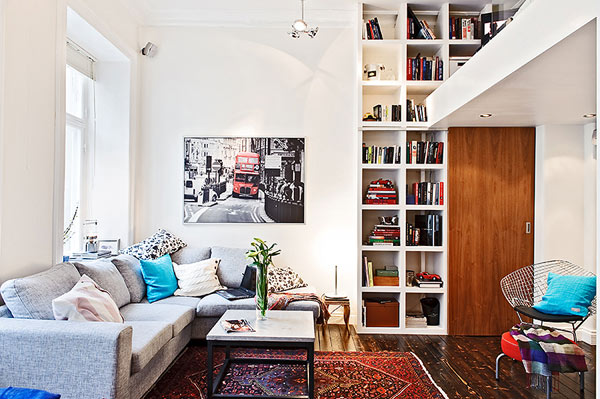 Tiny Swedish apartment