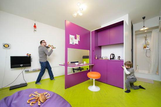 Tiny vibrant apartment
